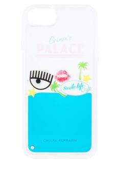 商品Chiara Ferragni Chiara's Palace iPhone 8 Cover - Only One Size / Blue图片