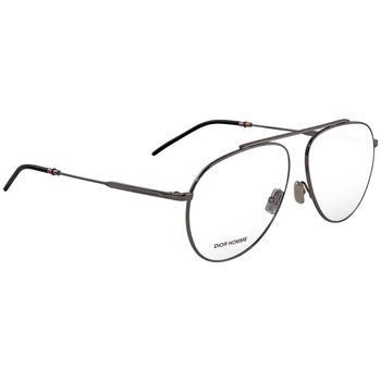 商品Dior Dark Ruthenium Aviator Eyeglasses DIOR0221101287KJ1 59图片