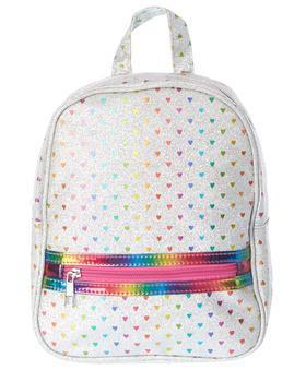 商品Olivia Miller Glitter Rainbow Hearts Backpack图片
