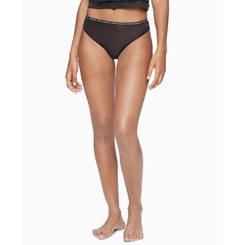 商品Women's CK One Glisten High-Leg Tanga Underwear QF6525图片