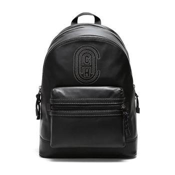 商品Coach Mens Black Academy Leather Backpack With Coach Patch图片