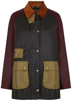 商品Luss colour-blocked waxed cotton jacket图片