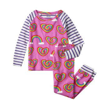 商品Rainbows print pajama set in pink图片