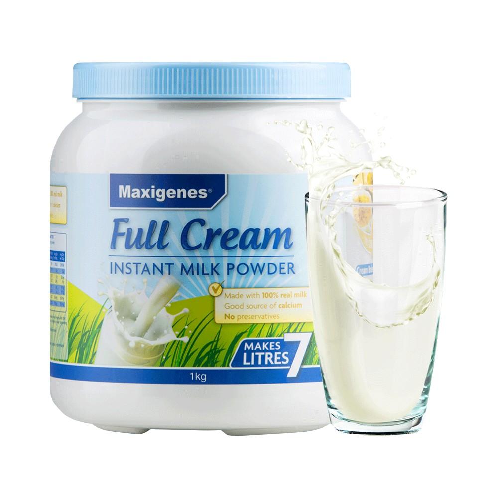 商品澳洲蓝胖子全脂高钙老年无糖牛奶学生奶粉1kg/罐成人奶粉全家营养图片