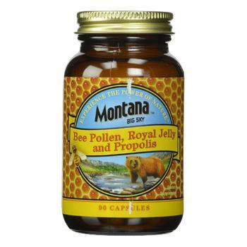 商品Montana Bee Pollen Royal Jelly and Propolis Capsules, 90 ea图片