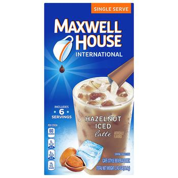 商品Iced Latte Cafe-Style Beverage Mix, Single Serve Packets Hazelnut图片