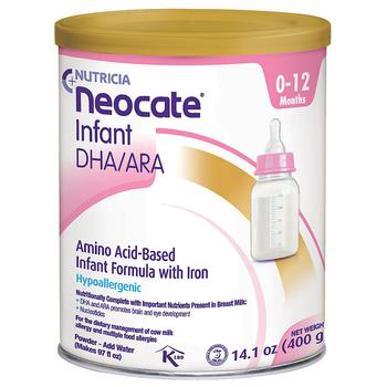 商品氨基酸配方婴儿1段奶粉 含铁 食物蛋白过敏体质适用图片