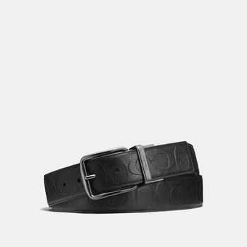 商品COACH Wide Harness Cut To Size Reversible Belt In Signature Leather图片