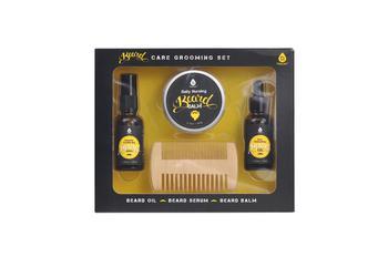 商品Beard Care Grooming set,Beard Oil,Beard serum,Beard Balm. Includes Beard Comb & Brush图片