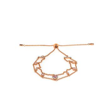 商品Swarovski One Rose Gold Tone And Crystal Bracelet 5492243图片