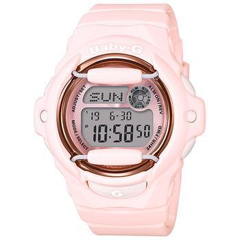 商品Women's Analog-Digital Pink Resin Strap Watch 43mm图片