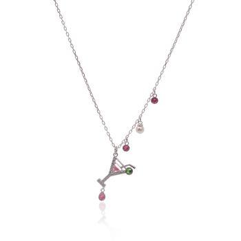 商品Swarovski No Regrets Rhodium Plated Light Multi Colored Crystal Necklace 5443012图片