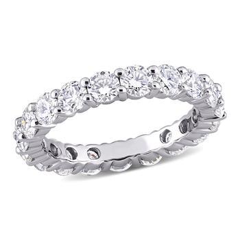 商品Amour 10K White Gold 3 1/10 CT TGW Created White Moissanite Eternity Ring图片