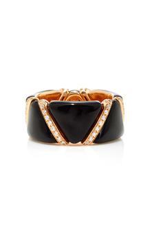 商品Qayten - Women's EZ Black Ring - Black - Moda Operandi图片