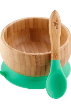 商品Baby's Bamboo Bowl & Spoon Set图片