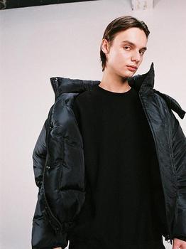 商品Hood Padded Jacket - Black图片