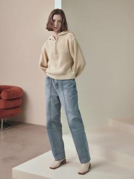 商品Pin Tucked Denim Pants图片