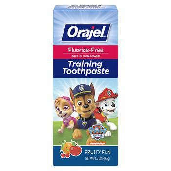 商品无糖无氟可吞咽幼童牙膏 水果味图片