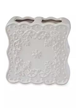 商品Ruffles White Toothbrush Holder 4.25-in.x 2-in. x 6.5-in.图片