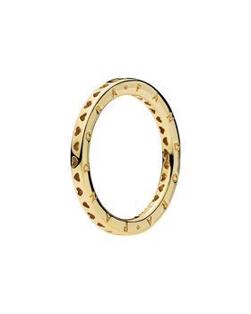 商品Pandora Jewelry 18K Over Silver Signature Hearts of Pandora Jewelry Ring图片