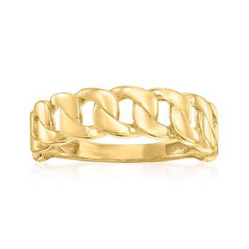 商品Ross-Simons 18kt Yellow Gold Curb-Link Ring图片