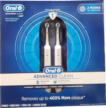 商品Oral B Advanced Clean Toothbrushes, 2 Count图片