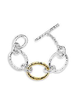 商品Chimera Sterling Silver & 18K Gold Classico Large Link Toggle Bracelet图片