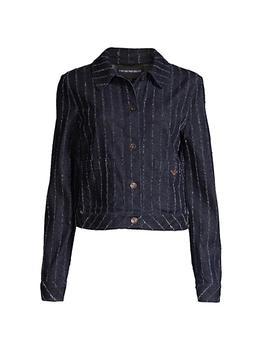 商品Textured Pinstripe Denim Jacket图片