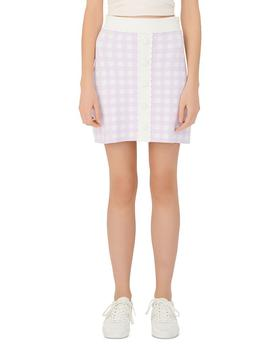 商品Jimmy Checked Knit Mini Skirt图片