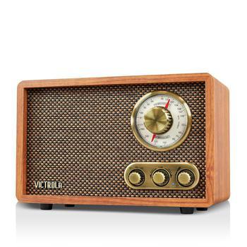 商品Victrola 复古木制蓝牙 FM/AM 收音机,带旋转表盘图片