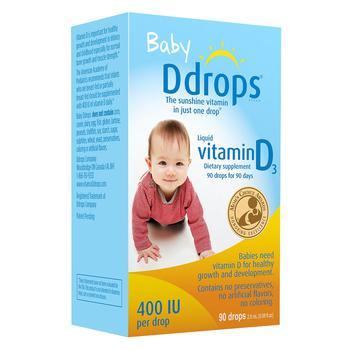 商品Ddrops 婴儿维生素D3滴剂 400IU 90滴图片