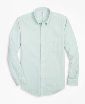 商品Regent Regular-Fit Sport Shirt, Garment-Dyed Seersucker图片