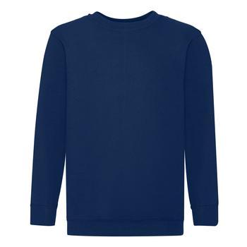 商品Fruit Of The Loom Childrens Big Boys Set in Sleeve Sweatshirt (Navy)图片