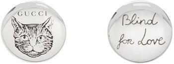 商品Silver 'Blind For Love' Stud Earrings图片