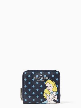 商品disney x kate spade new york alice in wonderland bifold wallet图片