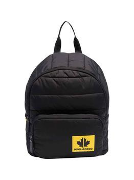 商品Dsquared2 Kids Quilted Shell Backpack - Only One Size / Black图片