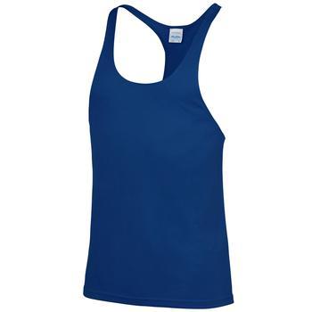 商品AWDis Just Cool Mens Plain Muscle Sports/Gym Vest Top (Royal Blue)图片