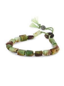 商品Dell Arte Sterling Silver & Jade Bead Bracelet图片