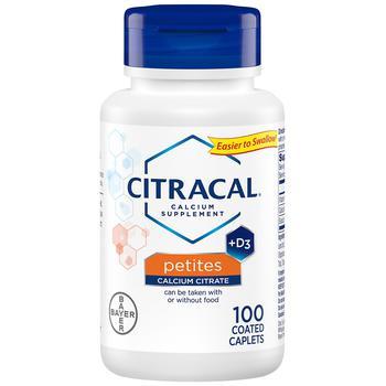 商品Petites Calcium Citrate Formula + D3, Coated Tablets图片