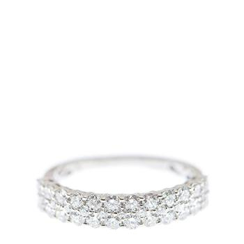 商品New J Collection Fine Jewellery Ring W / Diamond35 Rddi 1.00 Ct18kw 2.97 Gm 18kt White Gold Silver图片