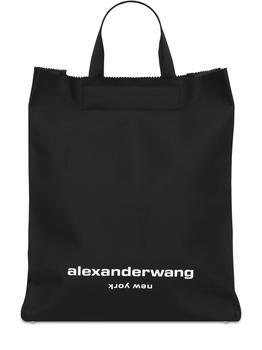 商品亚历山大·王 黑色字母手提包图片