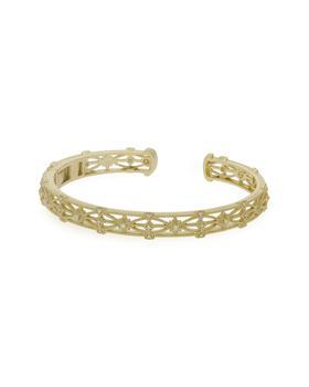 商品Judith Ripka Estate 14K 0.12 Ct. Tw. Diamond Starlight Cuff Bracelet图片