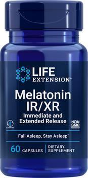 商品Life Extension Melatonin IR/XR (60 Capsules)图片