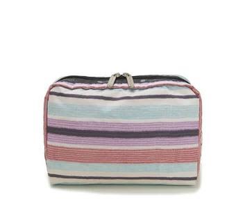 商品Le Sportsac Horizon Stripe Multicolor Extra Large Rectangular Cosmetic Pouch图片