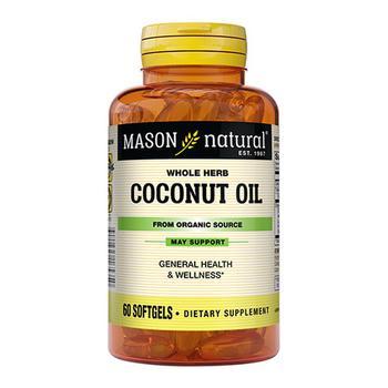 商品Mason Natural Organic Coconut Oil 1000Mg Softgels - 60 Ea图片