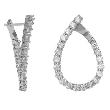 商品Diana M 14K White Gold 3.6 Carats Earrings图片