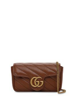 商品Super Mini Gg Marmont Leather Bag图片