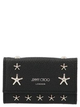 商品Jimmy Choo Howick Key Holder - Only One Size / Black图片