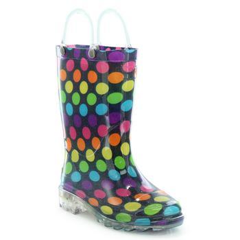 商品Toddler, Little Girl's and Big Girl's Lighted Rain Boots图片