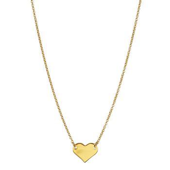 商品Adornia Heart Pendant Necklace 14k Yellow Gold Vermeil .925 Sterling Silver图片
